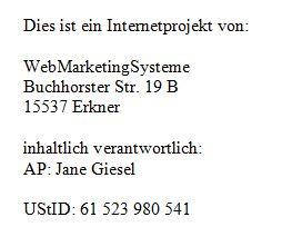 Hausbaufirma Berlin Impressum